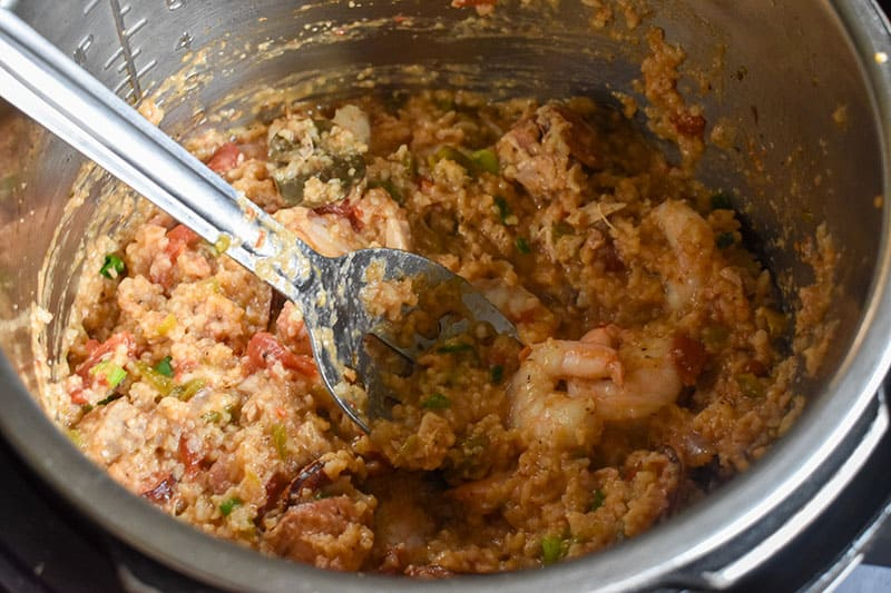 new orleans jambalaya rice and shrimp in a instant pot