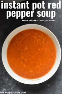instant pot red pepper soup