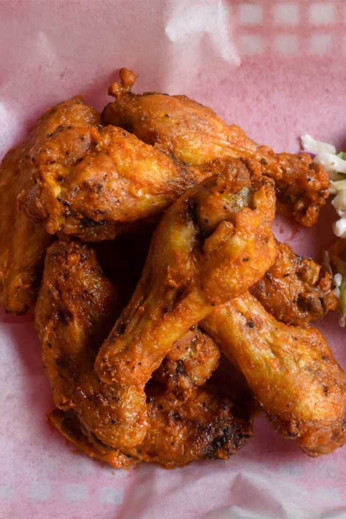 air fryer chicken wing photo for pinterest